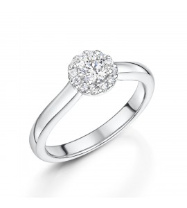 Brilliant Diamond Halo Ring 0.42ct