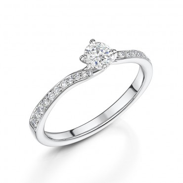 Brilliant Cut Diamond Ring 0.51cts