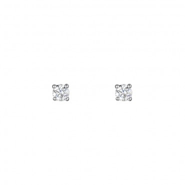 18ct White Gold Diamond Earrings 0.30cts